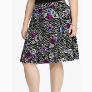 torrid floral polka dot skater skirt